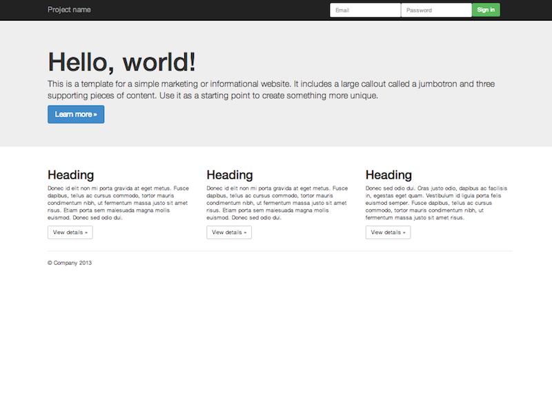 Getting started · Bootstrap 3 3 4 Documentation - BootstrapDocs